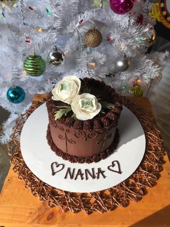 Lil Chocolate Birthday Cake Lindseybakescakescom